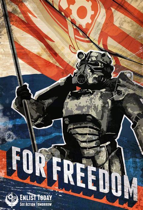of steel graphic 4 fallout brotherhood of steel inspired propaganda graphic