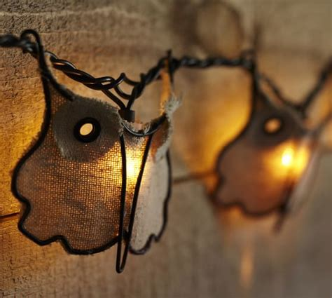 Owl String - burlap owl string lights pottery barn