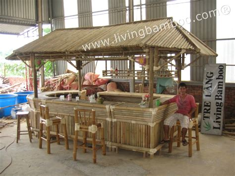 Bamboo Tiki Bar With Roof Bar House Bamboo Roof