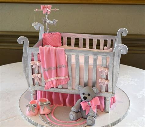Make A Baby Crib Baby Crib Cake Fancy Cakes