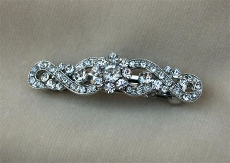 vintage bridal hair barrette rhinestone bridal hair clip bridal hair barrette
