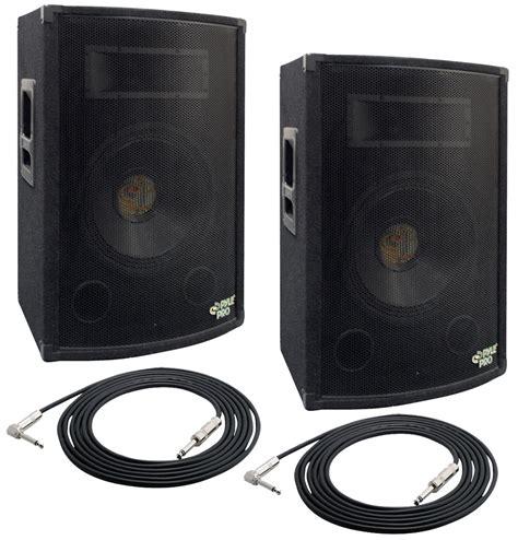 home audio speaker cabinets pyle pro audio 2 padh1079 dj passive 1000 watts 2 way 10