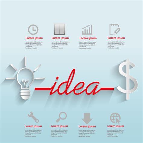business idea template creative business idea template graphics vector 03