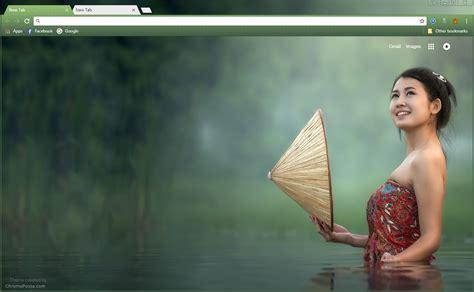 google themes hot girl asian river girl chrome theme chromeposta
