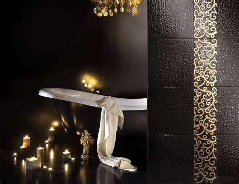 mosaic bathroom decor 24k gold glass hand painted mosaic tiles for your