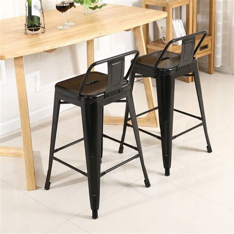 Counter Height Bar Stools Set Of 4 Low Back Indoor Outdoor Counter Height Stools Set Of 4