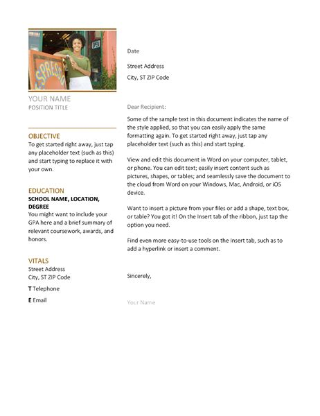 resume cover letter template word gfyork