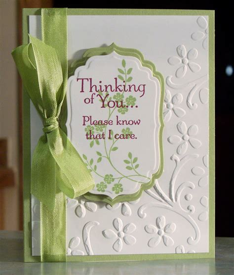 handmade sympathy card stin up thoughts by