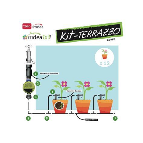 impianto irrigazione terrazzo irrigazione a goccia per piante terrazzo