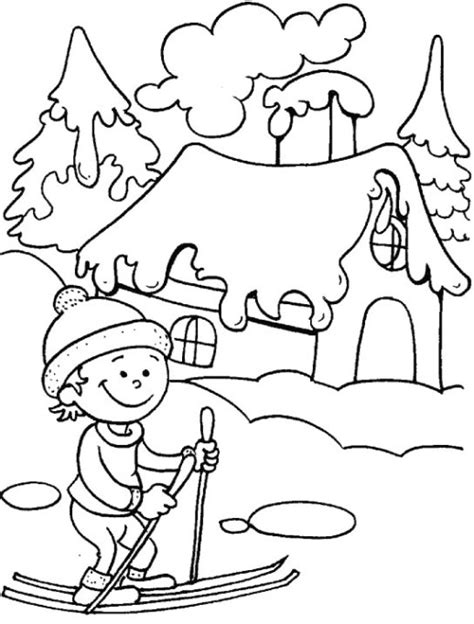 coloring page of winter season spectacular view of frizzy winter season 18 winter season