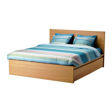 Malm Bed With Drawers by Malm Bed Frame High W 4 Storage Boxes Lur 246 Y Standard