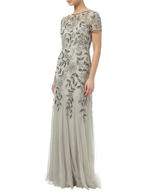 beaded gown papell floral beaded godet gown outlet