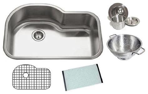 32 inch kitchen sink chef series 32 inch undermount offset single bowl kitchen