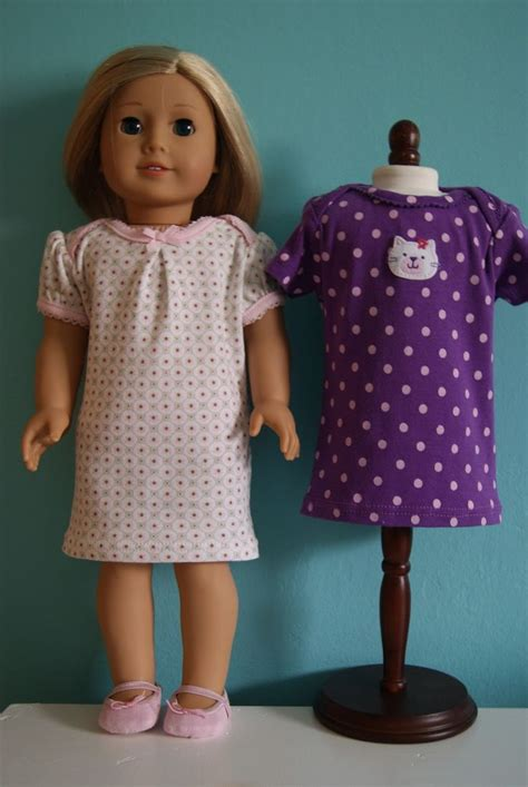 clothes pattern for dolls 159 best american girl doll sleepwear images on pinterest