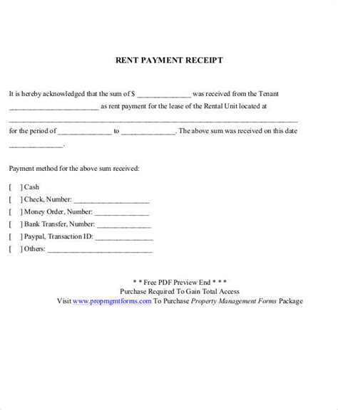 Rent Acknowledgement Letter 29 Sle Payment Receipt Templates