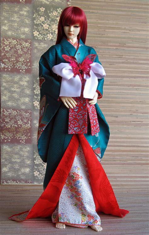 kimono pattern bjd bjd kimono cho cho san parade by inarisanscrafts on