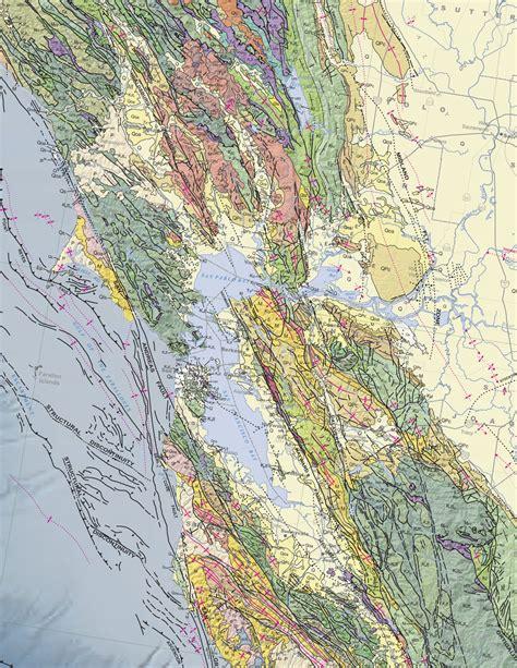 san francisco geology map covertress geologic map of california