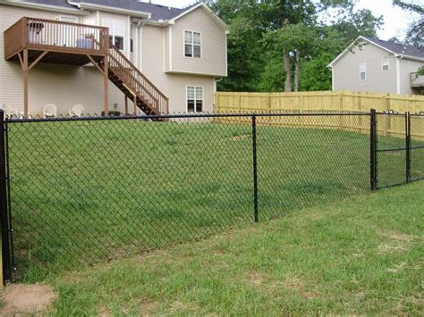 chain link fences field fence ideas tips easy intsall
