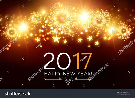 new year wishes vector happy new 2017 year seasons greetings stock vector