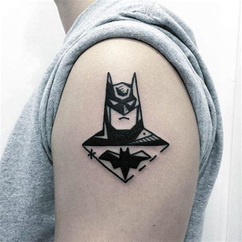 batman tattoo simple 40 simple arm tattoos for guys cool masculine design ideas