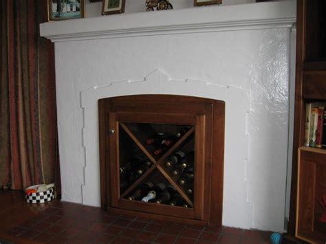 custom fireplace wine rack insert home diy custom