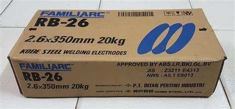 Kawat Las 26 Ms77 jual kawat las rb 26 uk 3 2mm x 350mm di lapak raja kecil teknik dennisskaligis
