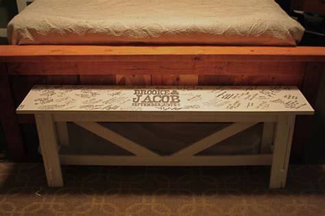 wedding benches ana white rustic bench as wedding guestbook diy projects