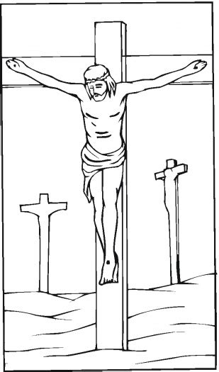 coloring pages jesus crucified free christian pictures and jesus images coloring