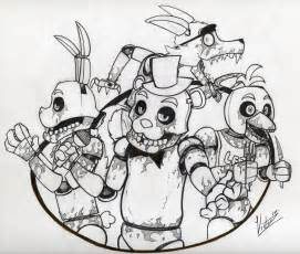 Freddy fazbear s pizza happy family no color by victorz1 on
