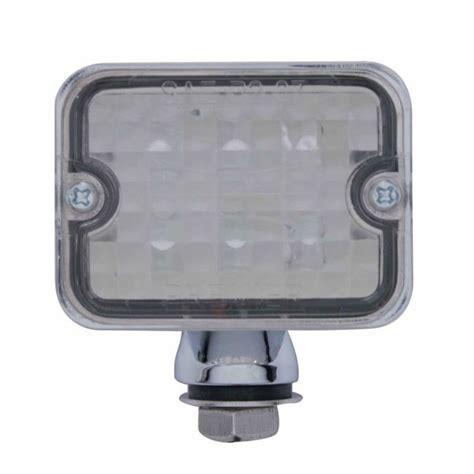 led len 12 volt 6 led medium rectangular chrome rod light w clear