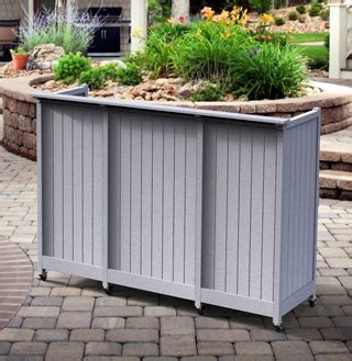 flat top bar outdoor mobile bar for commercial use in recycled plastic hardwoods