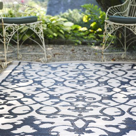 Waterproof Outdoor Rugs 180x270 Outdoor Plastic Rug Venice Black Waterproof Modern Mat Fab Rugs Ebay