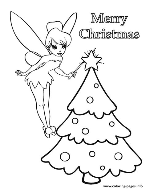 tinkerbell christmas tree coloring pages printable