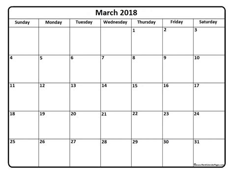 printable calendar 2018 waterproof march 2018 printable calendar yearly printable calendar