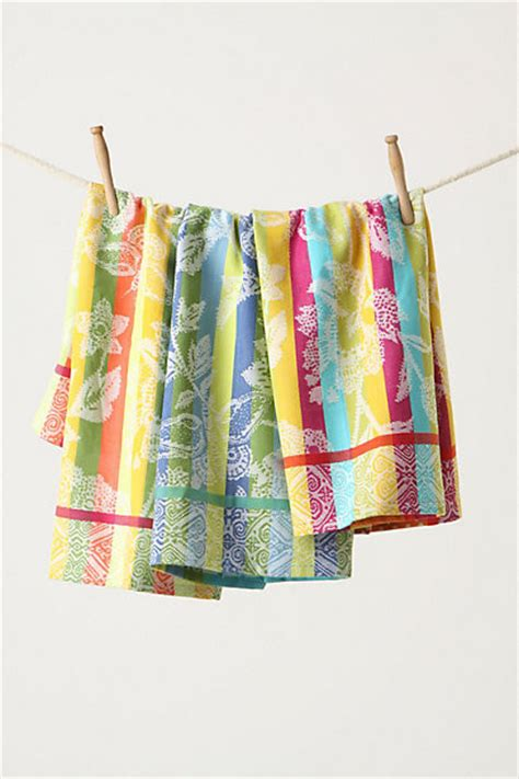 Kitchen Towels Anthropologie Afterglow Dishtowels Contemporary Dish Towels By