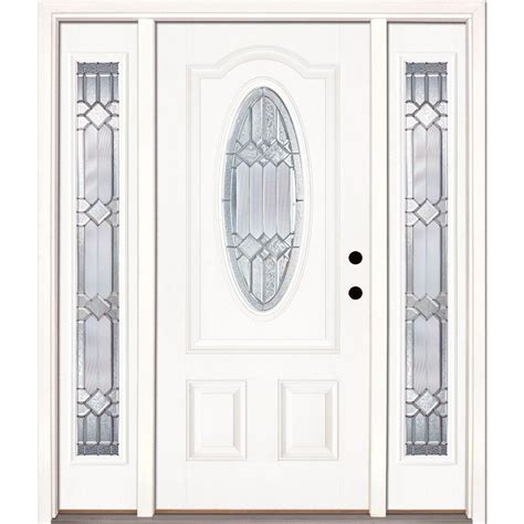 Oval Glass Front Entry Door Feather River Doors 63 5 In X81 625in Mission Pointe Zinc
