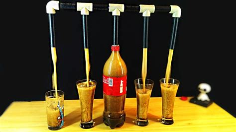 how to make at home dispenser for coca cola and mentos my