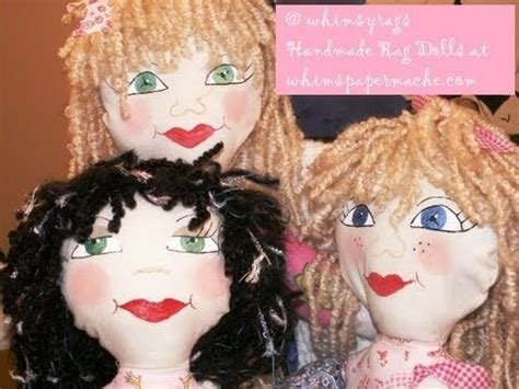 painting doll painting whimsical cloth doll faces using paints