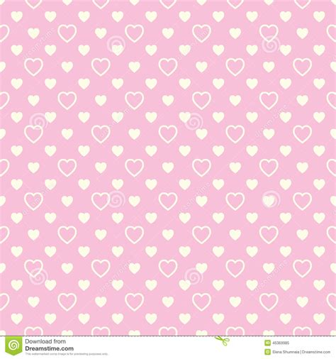 girly beige wallpaper seamless pattern with beige hearts on pink background