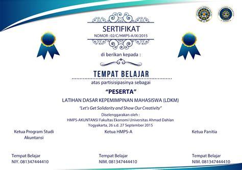 template sertifikat word contoh sertifikat dan template dalam format ms word