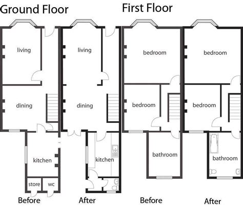 terraced house floor plans how to extend and remodel terraced homes homebuilding