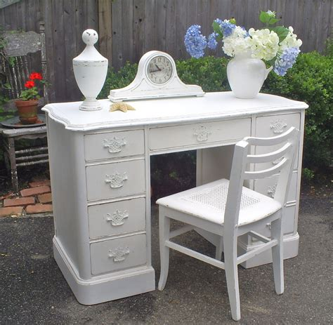 shabby chic white desk desk white shabby chic painted furniture by backporchco on