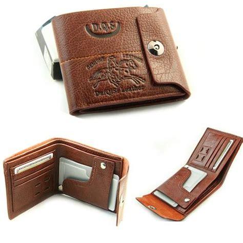 Harga Dompet Lombardi Genuine Leather harga spesifikasi mens leather bifold wallet credit id card holder slim coin purse brown terbaru