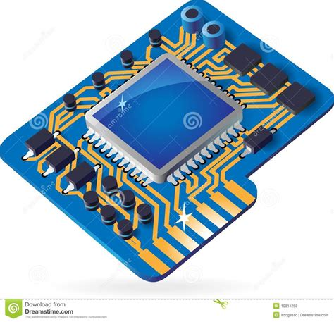 Hipset 6 In 1 icon of chipset stock vector image of device processor