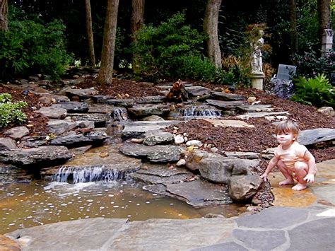 backyard stream natural streams waterfalls and landscaping all natural