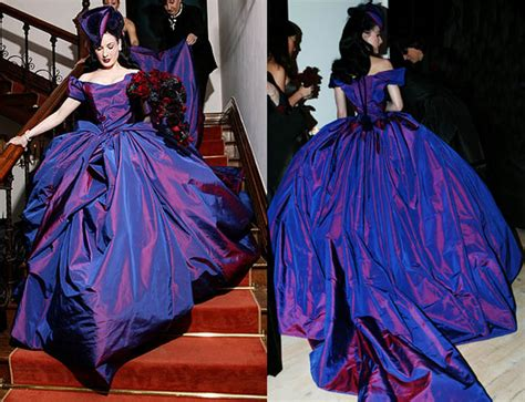 Or Fabulous Dita Teeses Purple Vivienne Westwood Wedding Dress by Dita Teese Vivienne Westwood Wedding Gown Arma