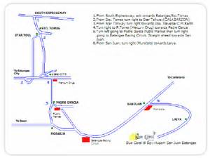 map of resort in laiya batangas blue coral resort map travelsmart net