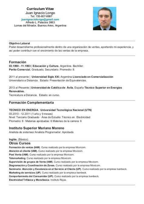 Modelo De Curriculum Vitae Argentina 2016 Curriculum Vitae