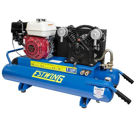 20 gal 5 5 hp gas engine single stage horizontal air compressor pun5520g the home depot