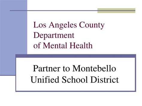 Los Angeles County Medi Cal Office by Ppt Los Angeles County Department Of Mental Health